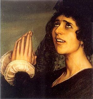 Saeta (flamenco) - The saeta by Julio Romero de Torres (1918).