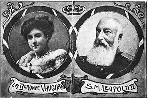 Caroline Lacroix - A postcard of Caroline and Leopold