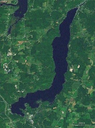 Lake Massawippi - Satellite view of Lake Massawippi