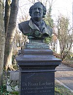 Bust of Lachner on his grave at the Alter Südfriedhof in Munich (Source: Wikimedia)
