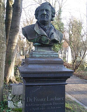 Franz Lachner - Bust of Lachner on his grave at the Alter Südfriedhof in Munich