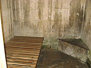 Lacock lock-up, interior
