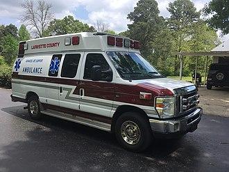 Advanced emergency medical technician - An advanced emergency medical technician ambulance with the Lafayette County Ambulance Service in Lafayette County Arkansas.