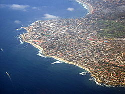 Panoramic view of La Jolla from above