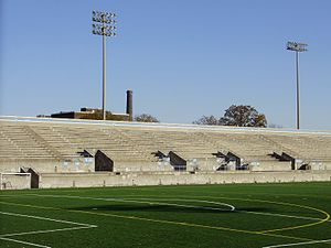 Lamport Stadium - Image: Lamport Stadium Stands