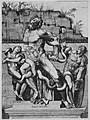 Laocoön and his two sons standing on a pedestal and being attacked by serpents, set before a decaying wall MET MM62956.jpg
