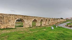Kamares Aqueduct - Larnaca, Cyprus, aqueduct known as Kamares.