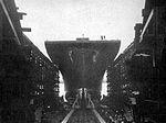 Launch of USS Marcus Island (CVE-77) at Kaiser Shipyards in December 1943.jpg