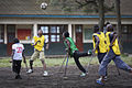Launching of a soccer school by MONUSCO Urugayan peacekeepers in Don Bosco college Goma (14084627863).jpg