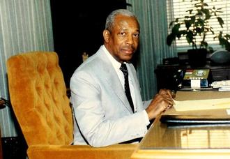 LeRoy T. Walker - LeRoy Walker as Chancellor of North Carolina Central University, 1984