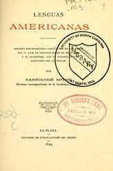 Bartolomé Mitre: Lenguas americanas
