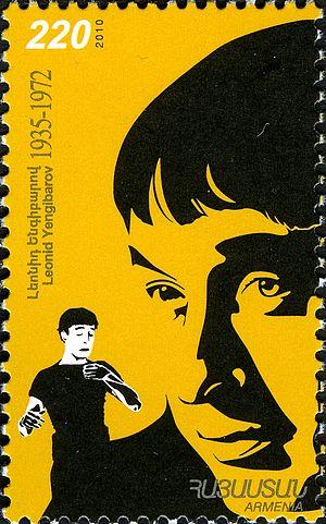 Leonid Yengibarov - Leonid Yengibarov 2011 Armenian stamp
