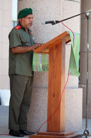 Timor Leste Defence Force - Major General Lere Anan Timor in 2012