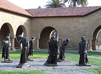 Stanford University - Bronze statues by Auguste Rodin are scattered throughout the campus, including these Burghers of Calais.