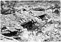 Les abris et les tranchées du mont Cucco, après les tris réglés de l'artillerie - Médiathèque de l'architecture et du patrimoine - AP62T104602.jpg