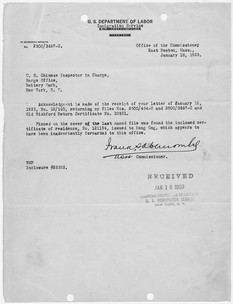 File:Letter acknowledging receipt of files - NARA - 278541.tif