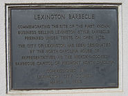 Lexington NC barbecue sign