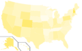 Libertarian Party presidential election results, 1992 (United States of America).png