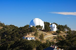 Lick Observatory - view of Shane Telescope on ...