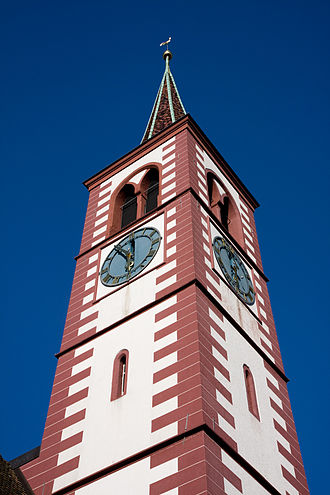 Liestal - Tower of the city church of Liestal