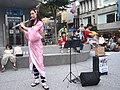 Lily Cao as Nezuko Kamado playing the western concert flute 20201101a.jpg