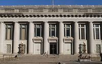Lincoln, Nebraska Scottish Rite Temple W side center.JPG