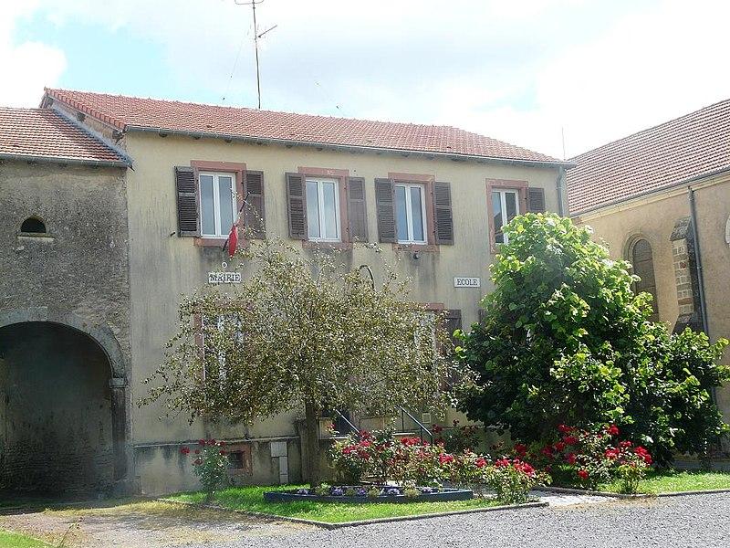 Commune de Lindre-Basse. Mairie-Ecole