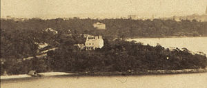 Lindesay, Darling Point - Lindesay, Darling Point, circa 1855 when it was still very isolated