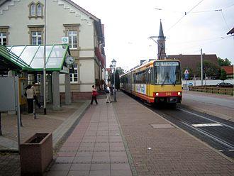 Hardt Railway - Linkenheim Rathaus stop