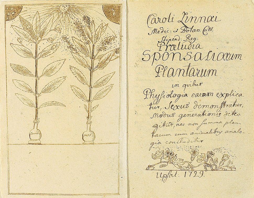 Linné-Praeludia Sponsaliorum Plantarum