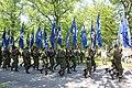 Lippujuhlan päivän paraati 2013 04 veteraanijärjestöjen lippulinna.JPG
