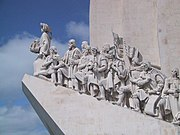 Sculpture on the Discoveries Age and Portuguese navigators in Lisbon, Portugal