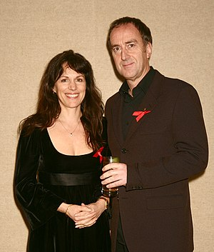 Lise Mayer - Lise Mayer and Angus Deayton at the Lighthouse Gala auction in aid of the Terrence Higgins Trust in 2007