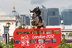 Lisen Bratt Fredricson og Matrix under de Olympiske Sommerlege 2012.
