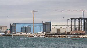 Benetti - Benetti Livorno shipyard toward Morosini Marina