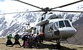 Local Nepalese and Army persons being evacuated by An Indian Air Force (IAF) Mi-17 V5 helicopter of directions of Nepalese authority as part of relief & rescue operations following a recent massive earthquake in Nepal.jpg