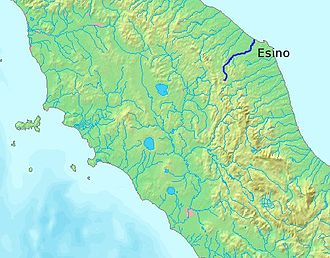 Esino - Image: Location Esino River