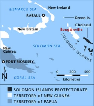 Battle of Empress Augusta Bay - Location of Bougainville