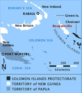 Battle of the Green Islands - Location of the Green Islands
