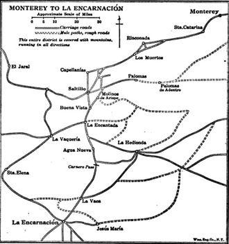 Battle of Buena Vista - Image: Location of Buena Vista