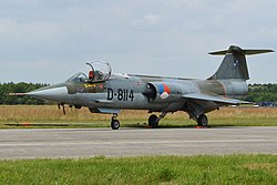 Lockheed F-104G Starfighter D-8114 (9179542542).jpg