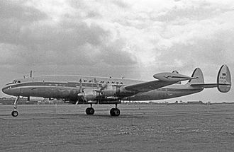 Lufthansa - Lufthansa Lockheed L-1049G Super Constellation operating a transatlantic scheduled services from Hamburg to Montreal and Chicago in May 1956.