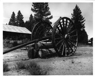 Collier Memorial State Park - High wheel skidder at Collier museum