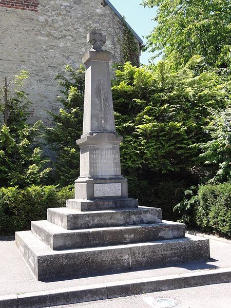 Longueval-Barbonval (Aisne) monument aux morts