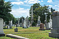 Looking S through section B - Glenwood Cemetery - 2014-09-14.jpg