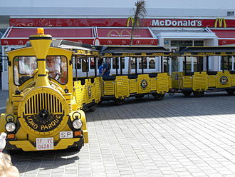 Trackless train - A trackless train for tourists in Tenerife