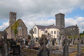 Loughrea - The old and new priories in Loughrea.