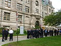 Lowell police and fire officers after 9-11 decennial ceremony; Lowell, MA; 2011-09-09.JPG