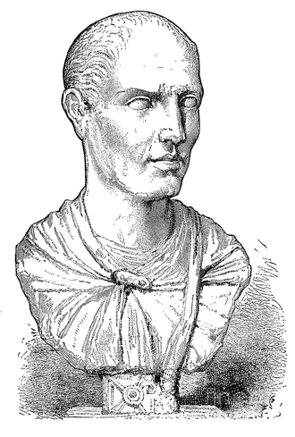 Lucullus - Engraving of a marble bust traditionally said to be Lucullus (Hermitage Museum)