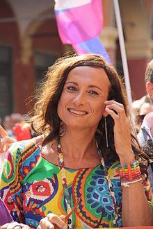 Vladimir Luxuria a Bologna per il Gay pride del 2012
